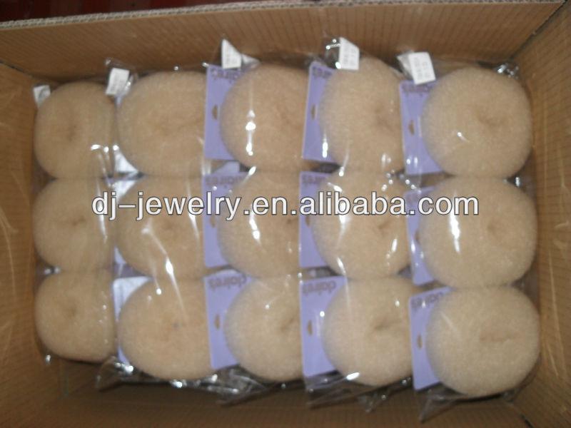 Cute doughnut nylon hair bun cheap low MOQ for lady