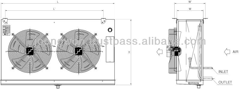 heat exchanger air cooler (J-Type)
