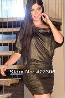 Мода ночной клуб сексуальный без бретелек лодка шеи битой рукав свободные рубашки тонкий платье розетка