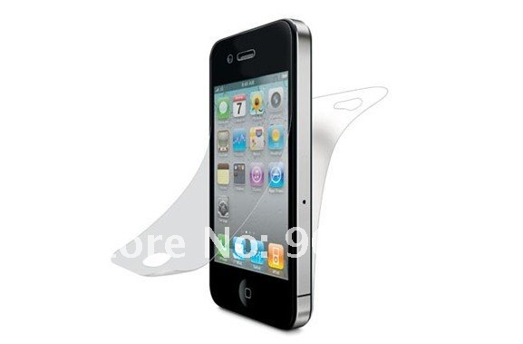 Free EMS DHL UPS Shipping 1000pcs/lot For iphone4 4G Full body Front+Back Clear Screen Protector,Screen Protective Film NFe