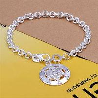 Серебряный браслет H302 925 silver bracelet, 925 silver fashion jewelry inlaid hexagram bracelet /cvtalnaaue