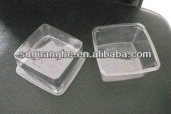 Plastic square PET food container
