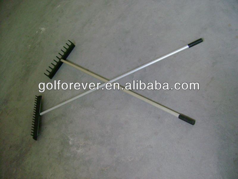 semi circle style golf rake for golf course