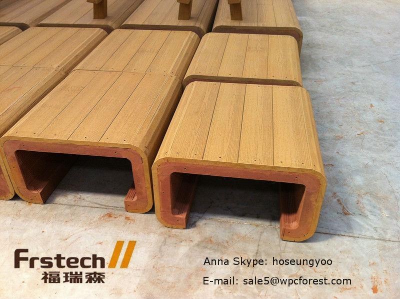 방수 wpc 야외 벤치, 간단한 나무 벤치 디자인, 목재 플라스틱 ...