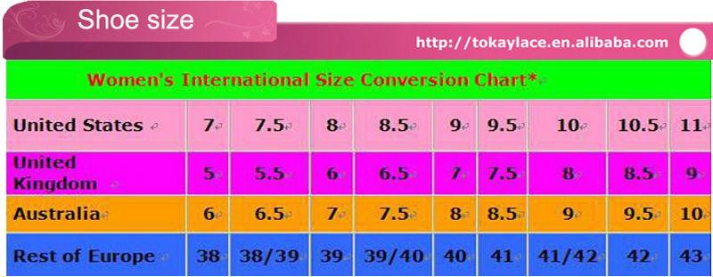 alibaba shoe size