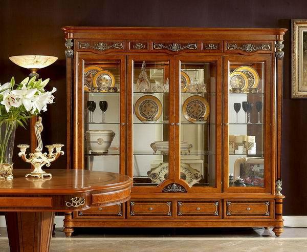 2014 classic furniture 0029 wooden showcase view classic for Living room showcase furniture designs