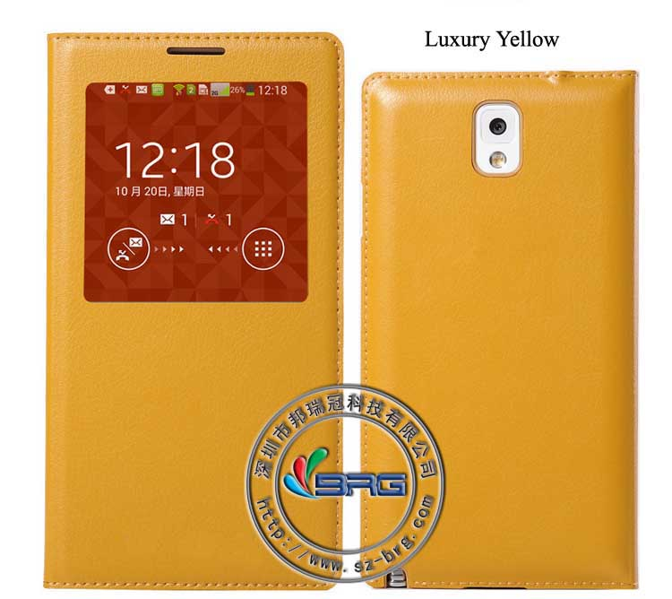 312 24h SALE!!! Official leather case for note 3, smart cover case for note 3 with chip