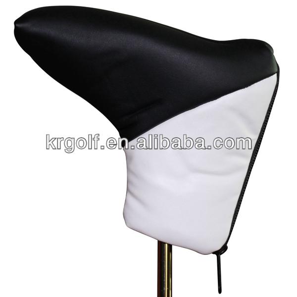 Custom golf putter head cover with zipper blade putter covers