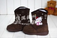 Мужская обувь On Sale Children Fashion HELLO KITTY Winnter Warm Ankle Snow boots for Kids/Kids Short Snow Boot 4-11 Old L298