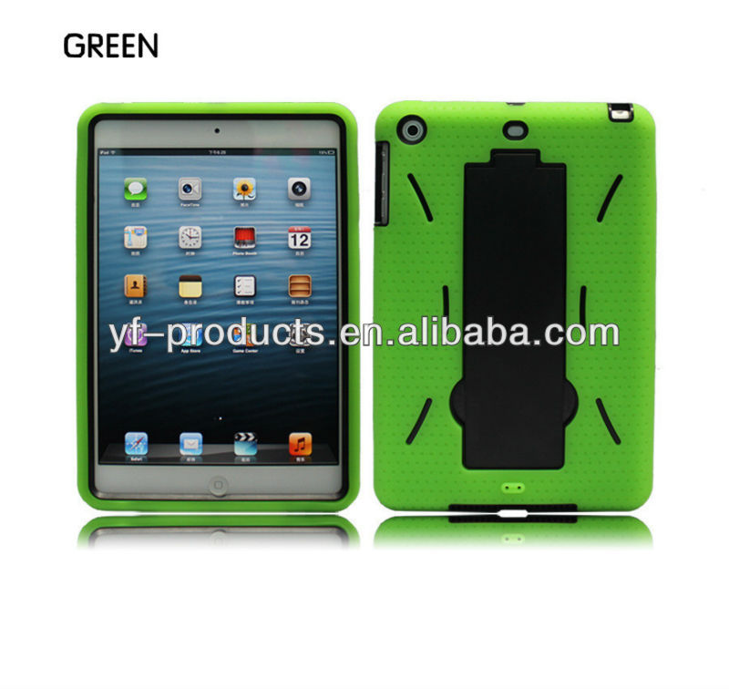 YPAC-IMP07 2 in 1 Kickstand Case For Mini iPad PC+Silicon