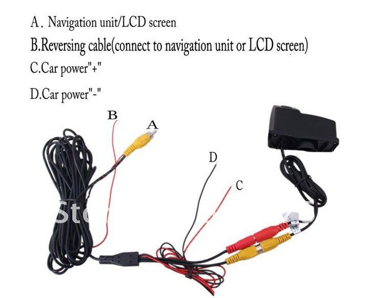 Tiguan Camera Car Rear View Camera With 4 LED  For Volkswagen Tiguan 2007-2010