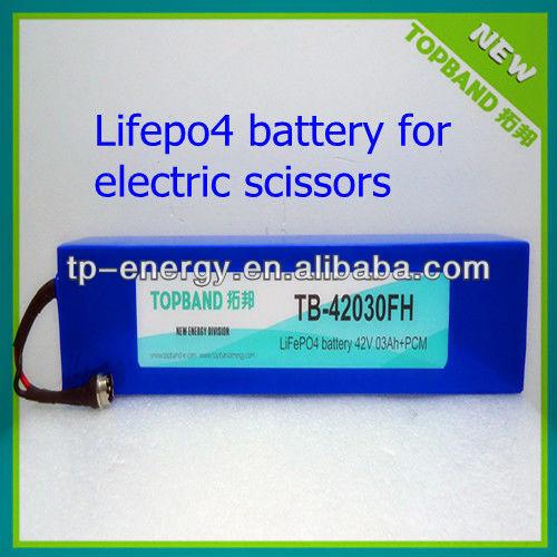 lifepo4 battery 42v 3ah TB-42030FH for electric scissors.jpg