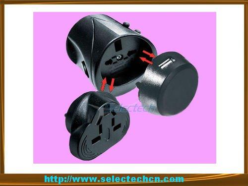 USB port World universal travel travel gift world plug adaptor