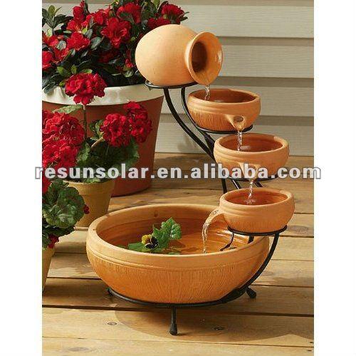 enfeites de jardim solar : enfeites de jardim solar:Solar Fonte Solar-Outros enfeites e adornos de água para jardim