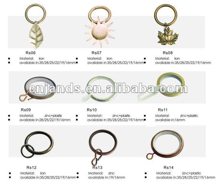 Cortinas de pl stico anillo de ganchos y pinzas cortinas for Ganchos para colgar cortinas