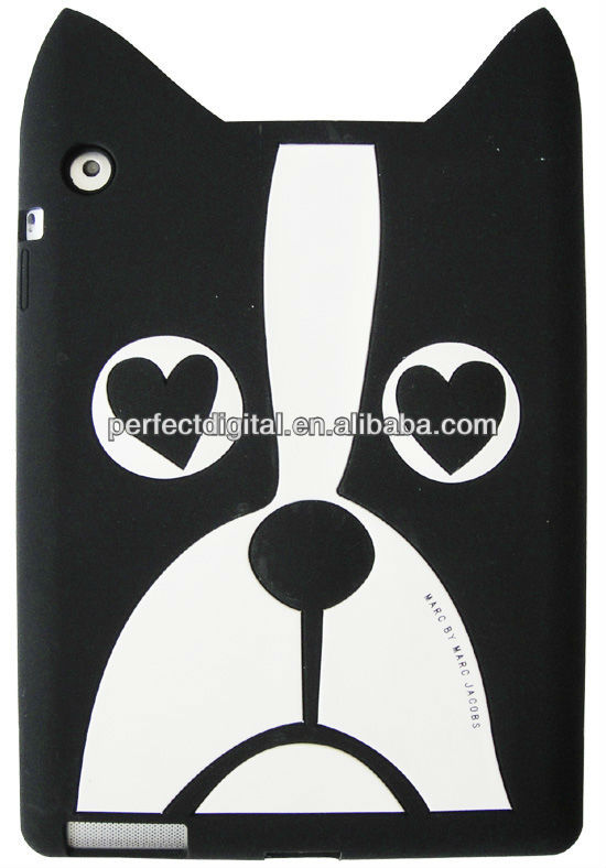 New arrival rabbit silicon cover for ipad 4 3 2