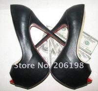 Туфли на высоком каблуке Highness 160 high heel Lady Daf Toe Peep Black Italy Leather Mary platforms, sandals, womens shoes