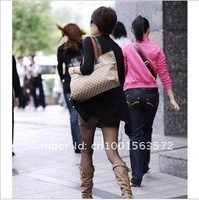 Сумка Low Hot Fashion Rectangle Brown Canvas Female Handbags Women's Shoulder bag