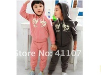 Retail Baby boys girls sports clothing sets children clothes sets with flying angel wings back suit overcoat hot