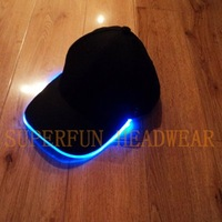 Женская бейсболка cheaper price and high quality colorful lights fiber optic LED caps and hats
