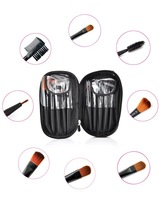 Кисти для макияжа Merry Christmas! New 10 PC Pro Cosmetic Makeup Brush Set Kit With Case HB-Q032