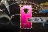 Чехол для для мобильных телефонов Newest Luxury Diamond Aluminium Case For iPhone 4 4G, Metal Case for Iphone 4, Very Beautiful