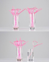80pcs Pink Disposable Novelty Honey Peaches Drinking Straws Birthday Wedding Party Use Bar Accessories