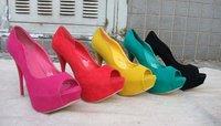 Туфли на высоком каблуке 2013, flock PU high base sexy high heels wedding shoes party shoes EUR size 35-41 drop ship 1002