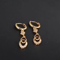 Серьги висячие ER0203 New Fashion Jewelry Drop Earrings 18K Gold Plated Inlay Zircon Crystal Dangle Earrings Beads Pearl Selling