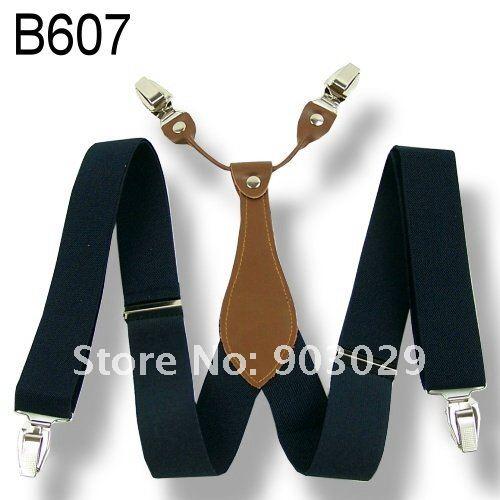 Unisex Mens  Adjustable Clip on Сплошной Темно синий Синий suspenders braces 3.5cm Ширина BD607