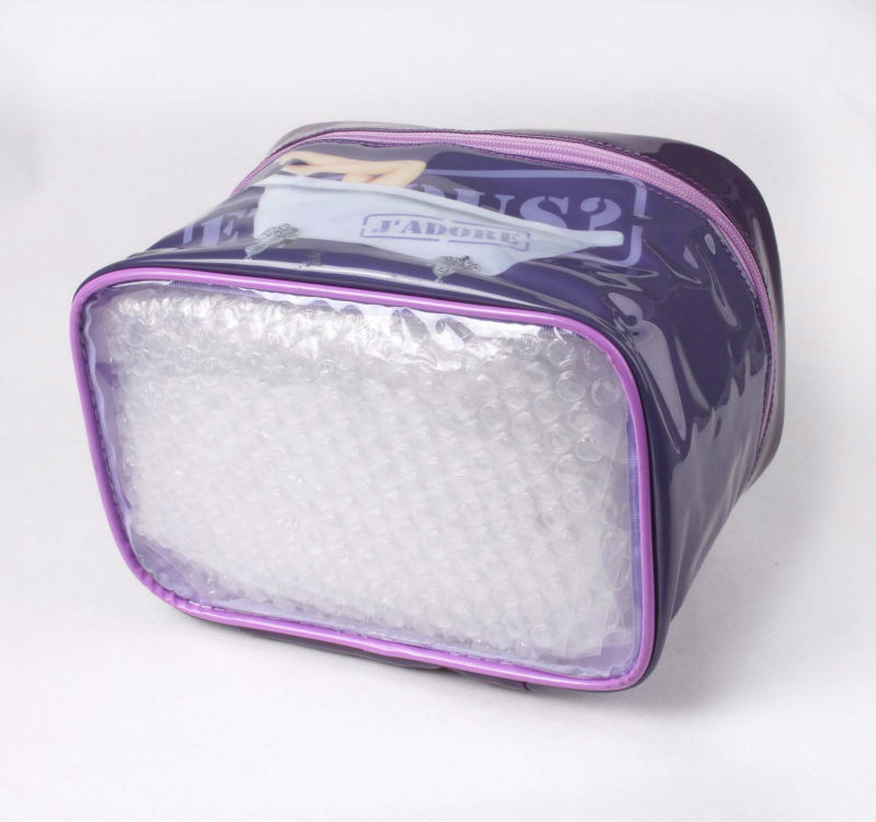 fashion photo printing PVC cosmetic bag with handle