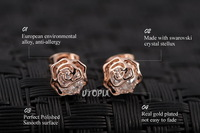 Серьги-гвоздики ITALINA Rigant 18 K swarovsKi Crystal Stellux Cz #RG86587