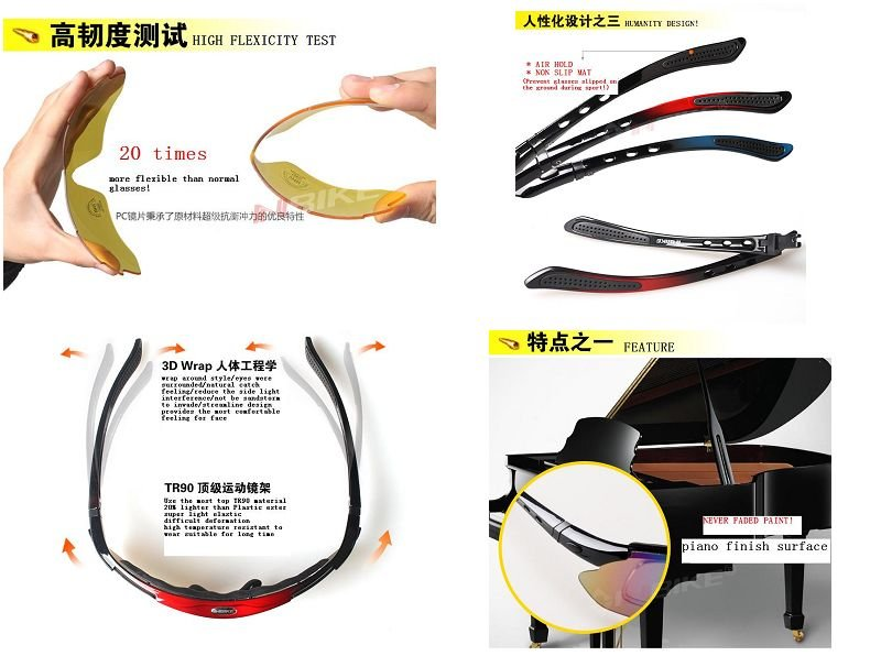 SPORT SUNGLASSES/ INTERCHANGEABLE LENS/ POLARIZED SUNGLASSES/ DRIVER SUNGLASSES/ 5 COLORS LENSES