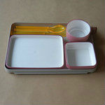 1/ 2 size airline plastic food serving tray