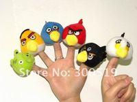 t1156 2 модели животных палец кукол, игрушка палец, палец куклы, детские куклы 100pcs/lot, 48pcs/лот