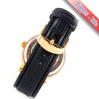 Наручные часы Deluxe Skeleton Gold Mens Watch Carve Dial Automatic Black Strap Gift iw2186