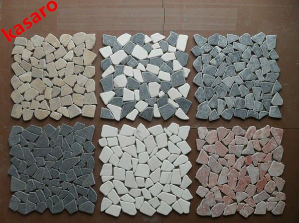 Broken Tile Mosaic Design Gravel Mosaic Stone Tile Mosaic