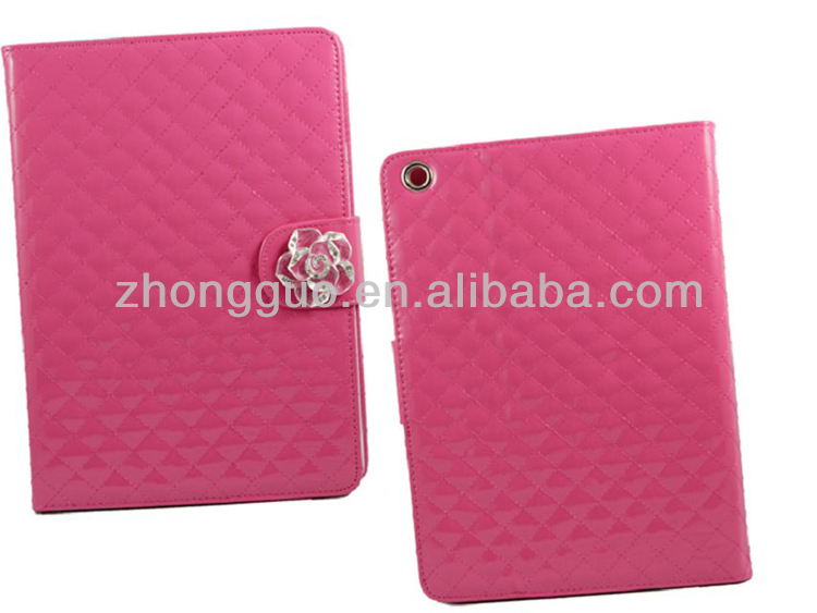Elegant Flower camellia card holder wallet luxury case for ipad air