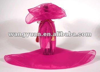 round organza floral wrap for wedding favor gift wrap