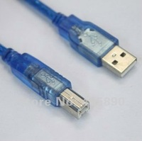 Детали для принтера 1.5m USB Print Cable Blue USB2.0 Data Cable Copper Core