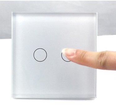Wholesale 2 Gang Wireless Radio Remote Control Touch Wall Switch Smart Home Light Switch,New100% Lamp Switch LED lndicator
