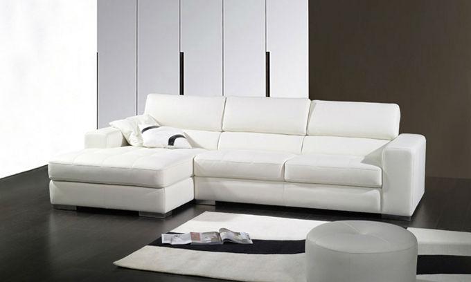 Muebles para el hogar sofá de cuero con respaldo alto moderno ...