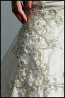 Свадебное платье Hot-sale! A-Line Sweetheart Delicate Beads Floor-Length Wedding Dress 2012 With Satin ED-A070