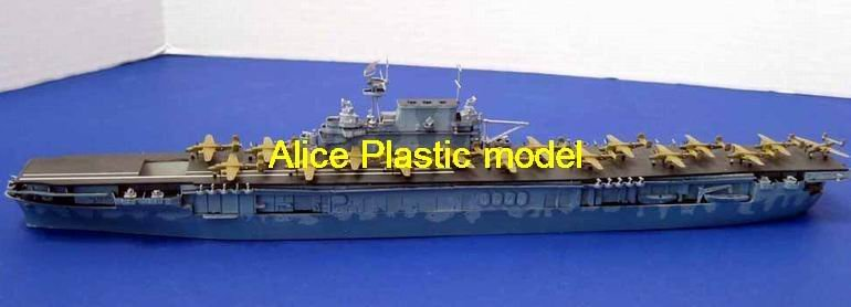 [Alice plasticmodel]1:700 WWII USS hornet CV-8 Nuclear-powered aircraft carrier battleship destroyer cruiser Frigate models