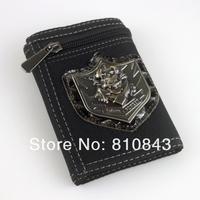 Кошелек 2013 New fashion wallet men Canvas wallets for men/Personality/Eagle/skull/scorpion/punk purse/ men pattern wallet Q9