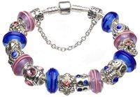Браслет Beautiful silver charm beads bracelets GG71