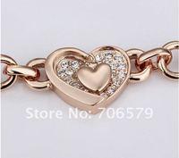 Браслет Top Quality 18K Gold Plated Hearts Bracelet With Swarovski Elements Rhinestone 18KGPB002