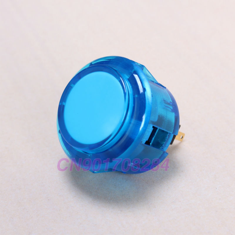 image for 10x OEM 30mm Transparent Crystal Clear Push Button Replace For Arcade