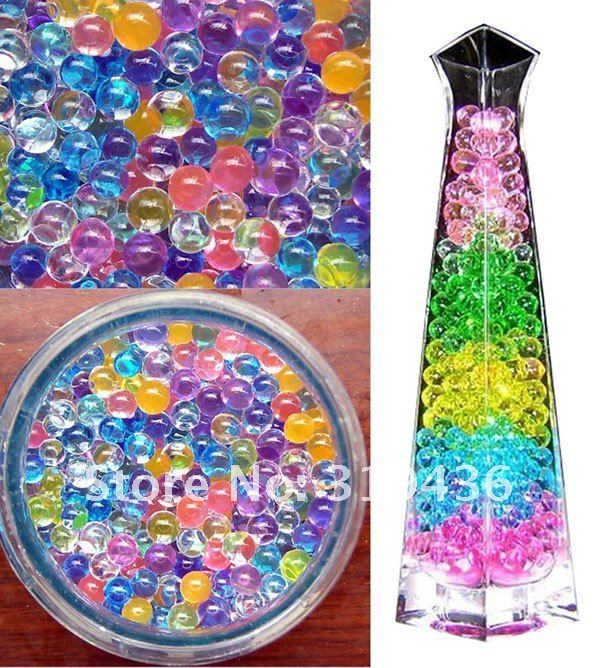 free shipping via DHL Hot sale wholesale  12 colors water crystal beads pearl hydrogel jelly ball for vase filler decoration