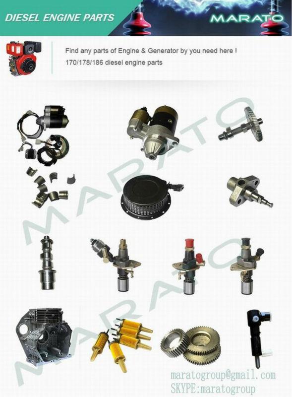 186f oil pump motor, 186f diesel generator part